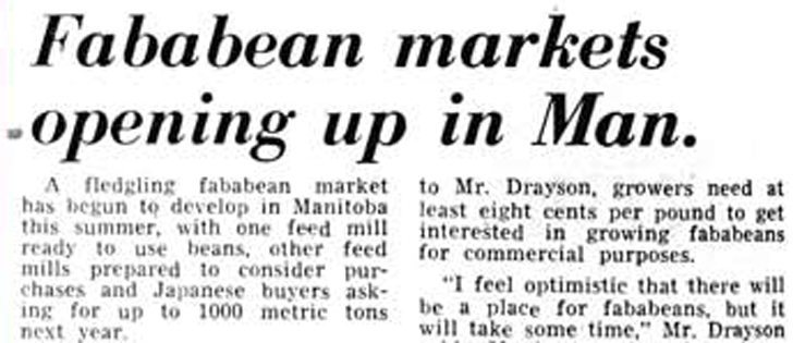 Issue date: October 2, 1975. Pulse crops were beginning to gain popularity across the Prairies, and new crops like fababeans were planted in Manitoba as a feed crop.