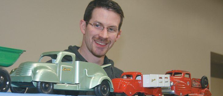 Neil Isley has a special fondness for the unique stylings of Lincoln toys, made from 1946-59 in Windsor, Ont. Prices fluctuate for collectibles depending on supply and demand and collectors abound, especially in the United States.  |   Karen Morrison photo