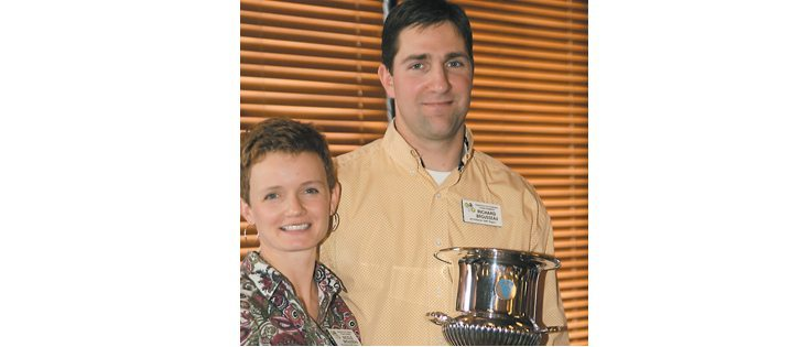 Richard and Nicole Brousseau of St. Paul were named Alberta's outstanding young farmers.  |  Barbara Duckworth photo