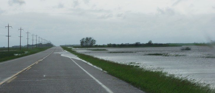 June 29, 2014 at 7:00 p.m. north of Souris, Manitoba on Highway 250 after 102mm of rain fell in 24 hours.  |  Diane Winters photos