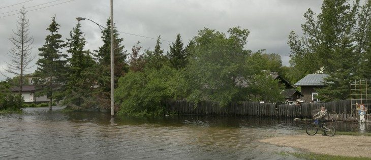 Residents near Fenwood,  Sask., feel boxed in by road closures as flooding cuts them off.  |  Robin Booker photos