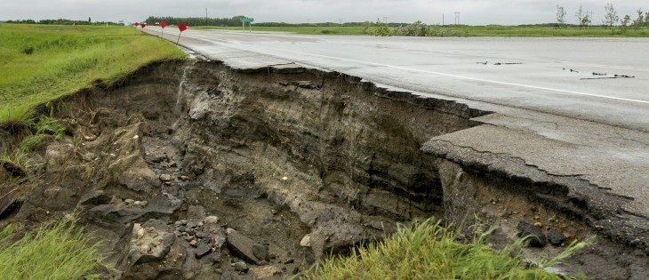 This is what closed Highway 16  east of Wynyard, Sask., on June 30.  |  Robin Booker photo