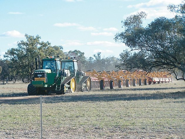 In transport, the carts are towed separately, but the seeder folds up to meet road regulations for farm machinery. | Multi Farming Systems photos