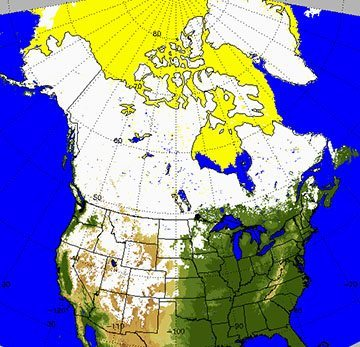 Snow cover Dec 16. The Global Multisensor Automated Snow and Ice mapping system uses observations in the visible, infrared and microwave spectral bands from polar orbiting and geostationary satellites to generate maps of snow and ice cover.