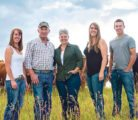 Bob Noble and Nora Paulovich and their children, Cara, left, Jolene and Lee Noble operate Jacknife Creek Land and Cattle Corp. The children plan to be the fourth generation to farm in the area. |   Samantha Rose Photography