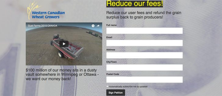 """In a Jan. 3 news release, the Western Canadian Wheat Growers Association called the excess funds a """"massive and unnecessary surplus"""" and invited all western Canadian grain farmers to demand a refund and an immediate reduction in user fees. 