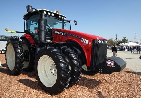Tractor's new shape improves visibility, allows sharper