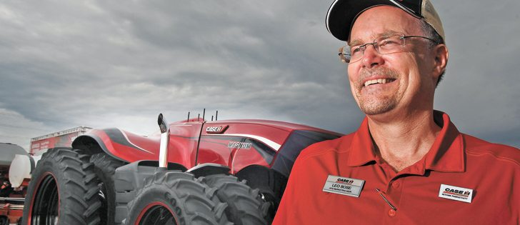 Leo Bose with Case IH says high-efficiency farming operations will benefit from autonomous machinery, including tractors like the one shown, and perhaps even combines. | Michael Raine photo