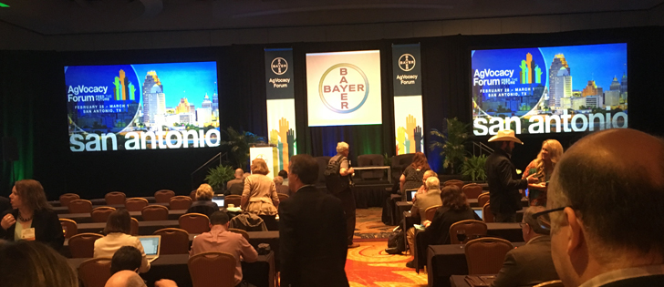 Adrian Percy, global head of research and development with Bayer, told delegates attending Bayer's AgVocacy Forum in San Antonio the debate surrounding genetically modified crops is over in Europe. | Sean Pratt photo