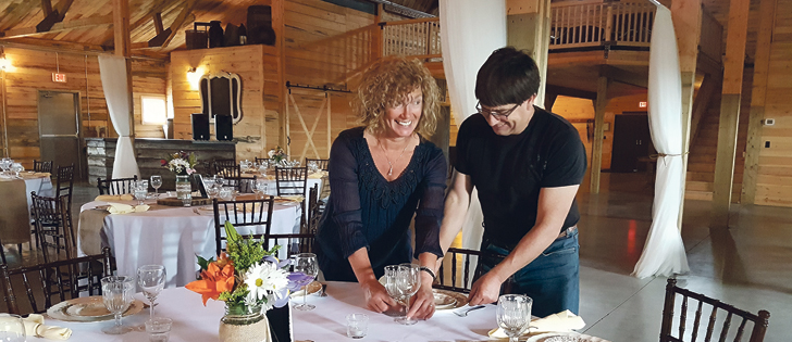 Ria and Ken Holgerson built a barn on their Alberta farm in 2015 to host weddings and special events and are now booked into 2019. | Brenda Kossowan photo