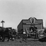 An antique swather was put through its paces at the Western Development Museum in North Battleford, Sask., in the summer of 1980.  |  File photo