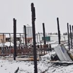 Devastation was complete after a fire destroyed a goat barn on this Alberta farm Feb. 4.  |  Maria Johnson photo