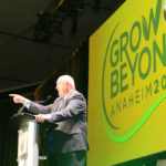 U.S. agriculture secretary Sonny Perdue addresses farmers at the 2018 Commodity Classic in Anaheim, California. | Sean Pratt photo