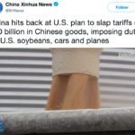 After weeks of rumours and speculation, China announced a proposed 25 percent tariff on American beans today. | Screencap via Twitter/@XHNews