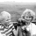 James and Sheri with Lassie.  |  Hathaway family photo