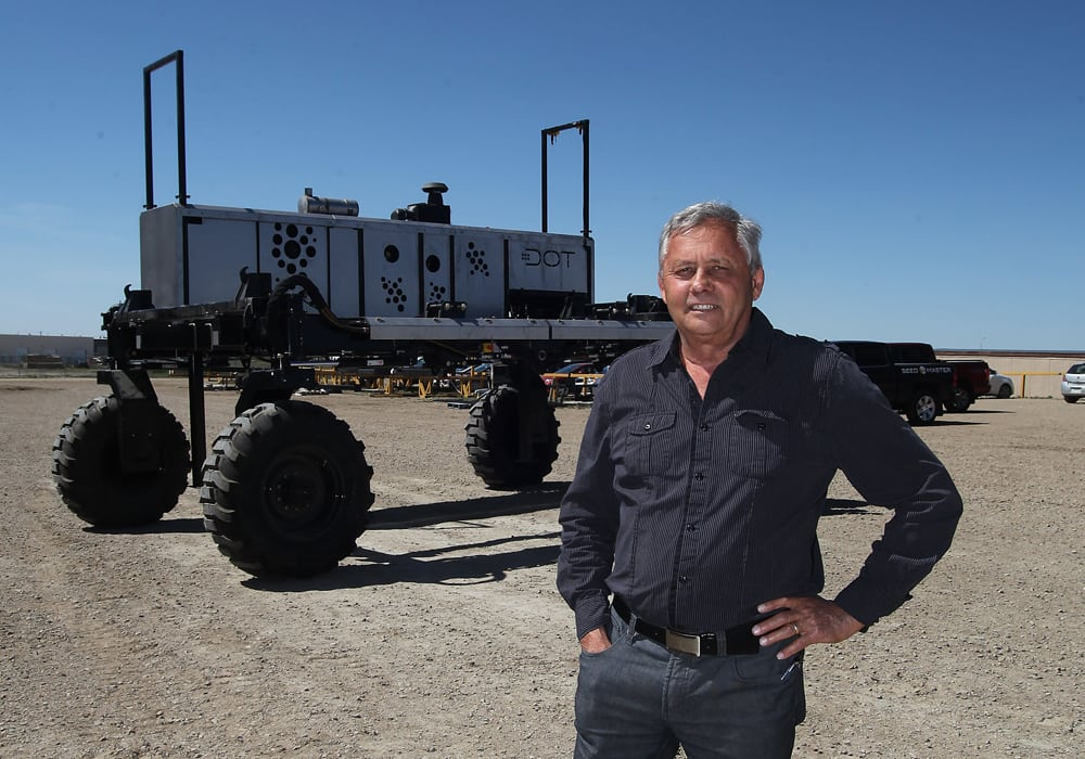 Norbert Beaujot and The DOT Technology Corp. of SeedMaster have won a couple Gold Standard Innovation Awards at Canada's Farm Progress Show for the DOT Power platform, a mobile diesel-powered platform that links common implements. | File photo