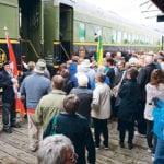 Passengers prepare to board the Wheatland Express Excursion Train at Cudworth, Sask.  |  Brian Cross photo