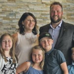 Jennifer and Jordan Lindgren from Norquay. Sask., pose with their children, Alexis, left, Bristol, Jaxson and Westin, after being named the 2018 Saskatchewan Outstanding Young Farmers.  |  Karen Briere photo