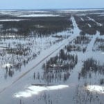 The Hudson Bay Railway has been closed since May 2017 when severe flooding damaged the track and cut off rail access to several northern Manitoba communities. | OmniTrax photo