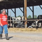 Vivian Thompson runs a 100-cow dairy herd near Cadott, WI. In a 25 km radius from Cadott, seven dairy farms have sold their cows and gone out of business in the last two months. | Robert Arnason photo