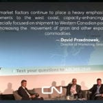 David Przednowek of CN speaks during a panel discussion entitled