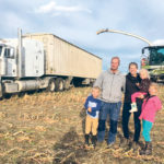 Craig and Jinel Ference of Double F Farms, seen here with their three children, Nate, 7, Macy, 3, and Maddie, 9, farm near Kirriemuir, Alta.  | Double F Farms photo