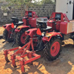 At the end of the working day the Harvest tractors are parked at the power shed for re-charge from the grid. The units can also be charged by a windmill, water wheel or solar panels. Ideally, each unit comes with a back-up power cell.  |  Motivo photo