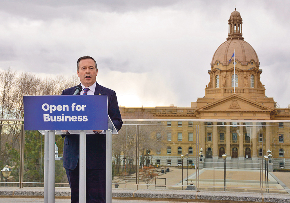 Alberta premier-designate Jason Kenney outlines plans for two new bills he intends to announce once his government is sworn in April 30.  |  Jeremy Simes photo