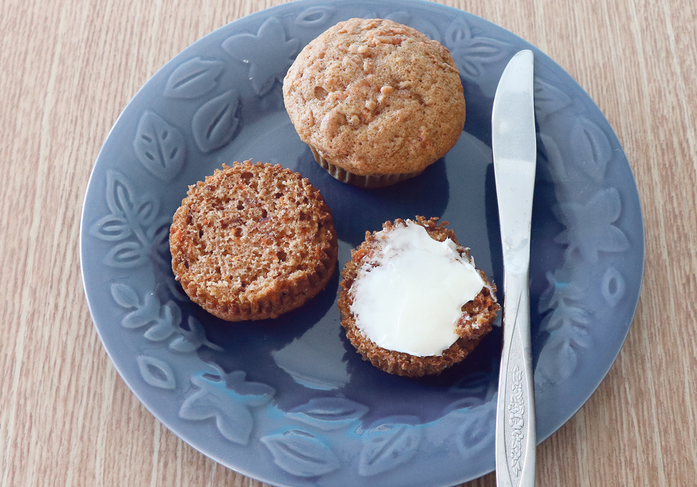 Carrot muffins are a nice light muffin.  |  Joan Airey photo