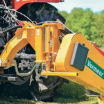 The new Vermeer Quick Hitch turns three-point mower hookup into a one-person job that eliminates many of the steps getting in and out of the tractor.  |  Ron Lyseng photo