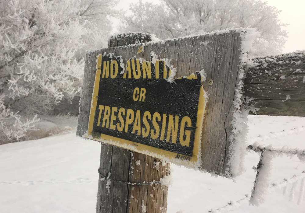 Bill 27, if passed, would more than double fines and potentially give jail time to people who trespass onto private property. The government introduced it in the legislature Nov. 19. | File photo