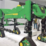 Autonomous machinery has been an ever-growing aspect of Agritechnica and John Deere's smaller field-spraying robot, designed to be part of a herd, is just one the many units that was at last week's event.  |  Chris McCullough photo