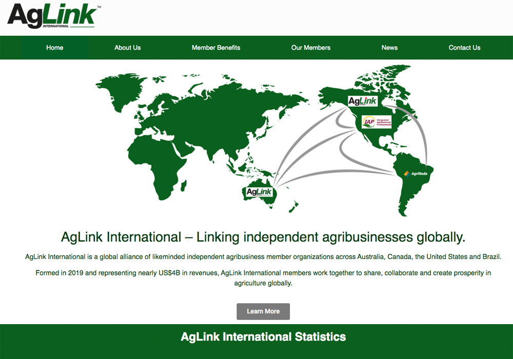 AgLink Canada has joined forces with AgLink Australia, Integrated Agribusiness Professionals in the United States and AgriRede in Brazil to create AgLink International.