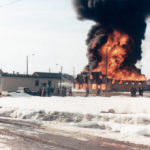 The hardware store fire in Hines Creek, Alta., in 1981 is one of the topics covered in the Hines Creek Book Facebook page.  |  Photos courtesy of Roxanne Lefebvre