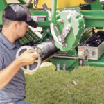 Old ground-drive air carts get sectional control