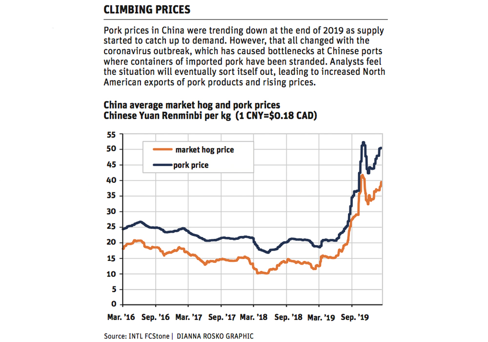 Rising Chinese pork demand to boost exports