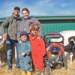 Roelof and Mary van Benthem were named Alberta's outstanding young farmers earlier this year. They own Benthemmer Holsteins near Spruce View in central Alberta. They are shown with three of their sons: Noah, Finn and Toby.  |  Barbara Duckworth photo