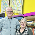 Don and Lynn Burdett in the Prairie Points Quilt Shop on their No Regrets Ranch acreage. Lynn, a lifelong seamstress, was drawn to quilting as therapy when dealing with the death of two of her best friends in 2005. The quilting evolved into a retail business, which was located in nearby Ponoka for five years. Lynn opened the store in her home in 2017.   |  Maria Johnson photo