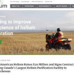 Helium plant planned for Sask.