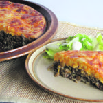 Impossible cheeseburger lentil pie is an old family favourite updated with the addition of a few lentils. It tastes just like a cheese burger. Serve with some pickles and lettuce on the side.  |  Betty Ann Deobald photo