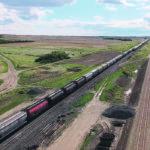 Big train a-comin' from southwest Saskatchewan