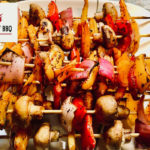 Skewered marinated veggies