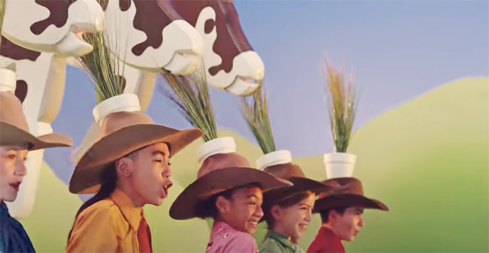 Burger King has released a video promoting its efforts to mitigate climate change, but the suggestion that feeding lemongrass to cattle might be part of the solution has stirred up controversy.  |  Burger King screen capture