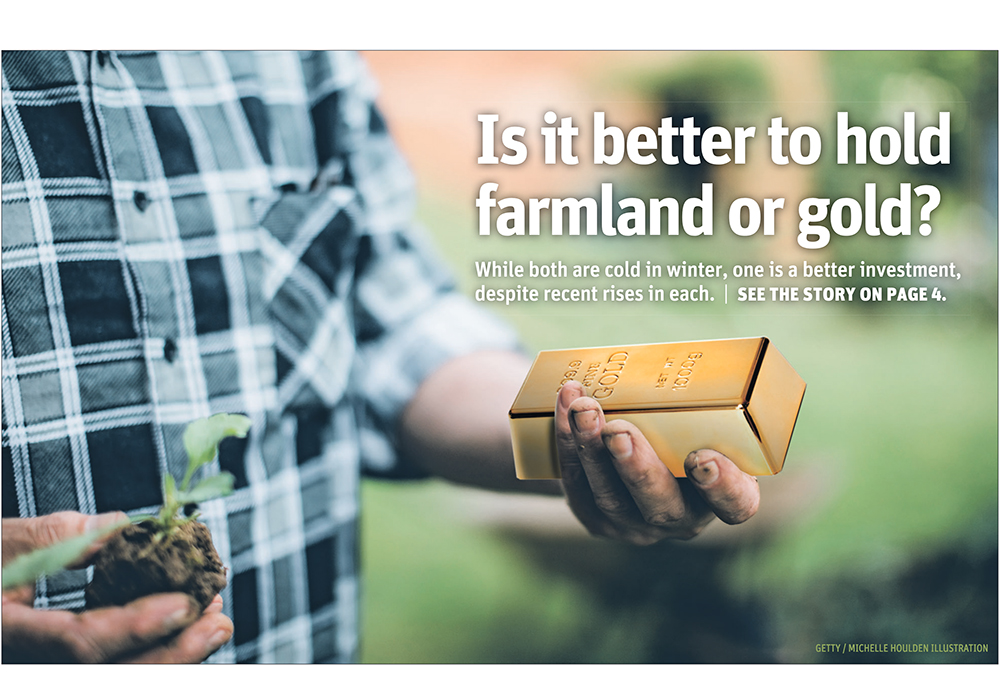 Is it better to hold farmland or gold?