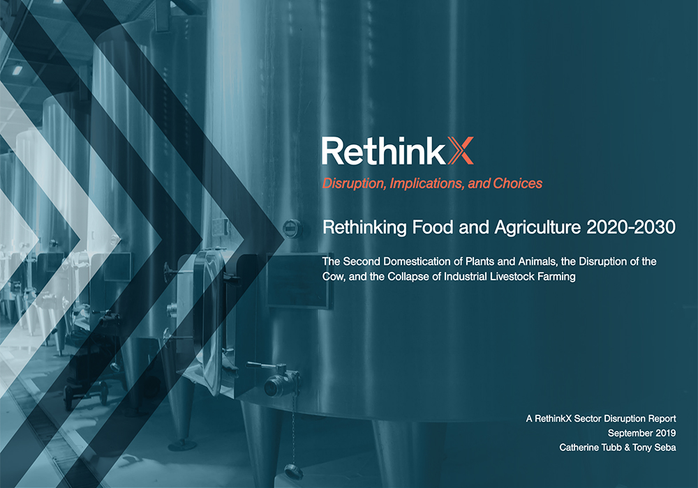 "Independent think-tank RethinkX examines of ""precision fermentation"" technology and concludes in the subtitle of its paper that it means ""the disruption of the cow, and the collapse of industrial livestock farming.""