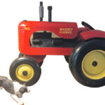 Toy tractor mystery prompts search