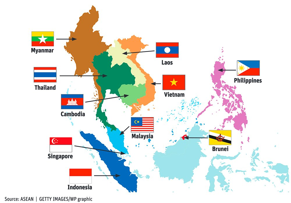 The pursuit of a free trade deal with the Association of Southeast Asian Nations (ASEAN), a bloc of ten-member states, began three years ago but has so far harvested no results. | WP graphic