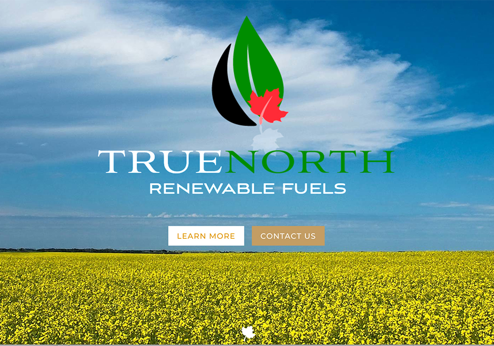 Federated Co-operatives Limited has purchased the assets of True North Renewable Fuels, a Calgary energy company that recently announced its intention to build a biofuel refinery in Regina. | Screencap via tnrf.ca