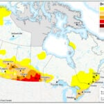 According to the nationwide map released May 7, southwestern Manitoba, parts of southern Saskatchewan and the southeastern corner of Alberta are under CDM's classification of extreme drought (D3) as of April 30. | Map via agr.gc.ca