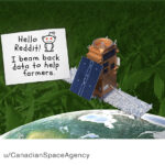 Space and agriculture meet on social media in AMA event